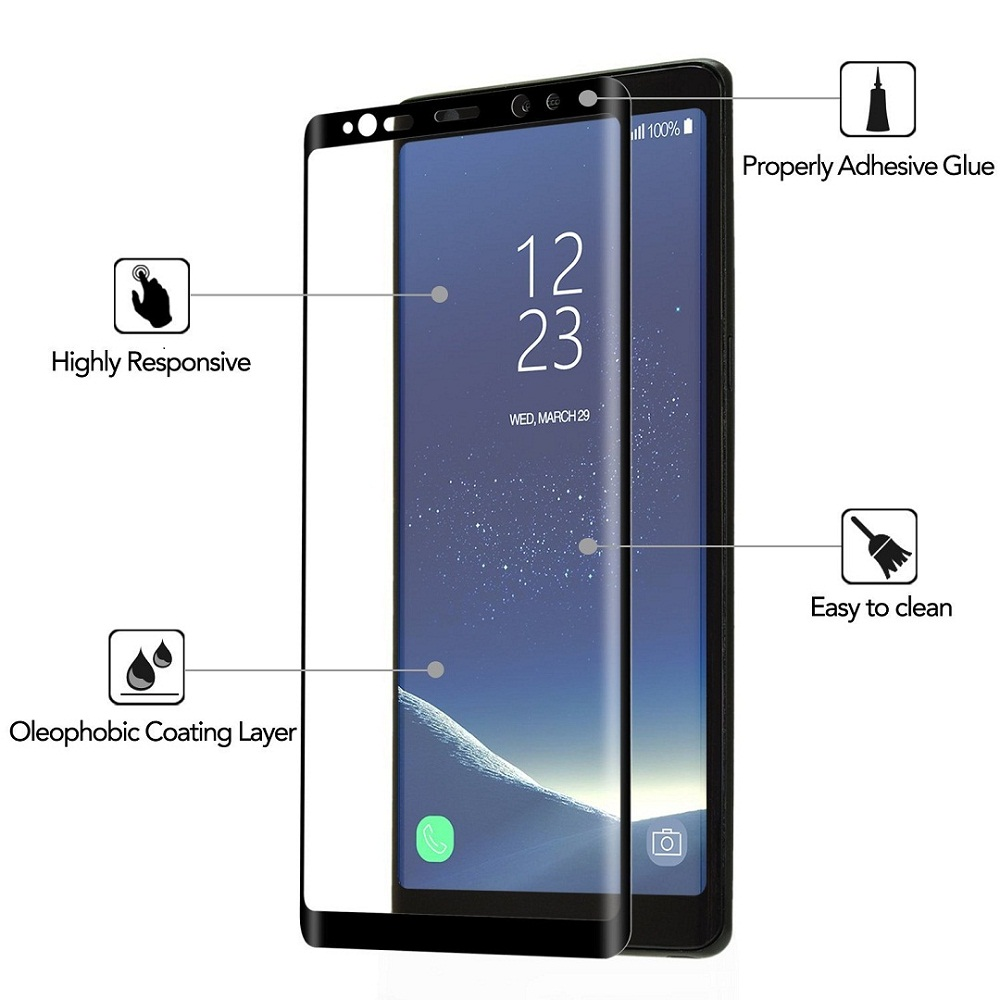 9H Case Friendly Full Coverage Tempered Glass Screen Protector for Samsung Galaxy S9 Plus S9+