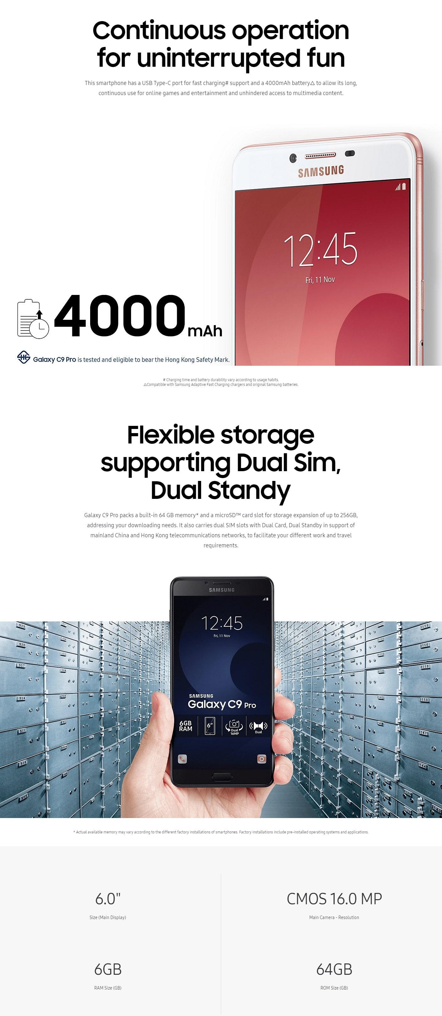 Samsung galaxy C9 Pro price