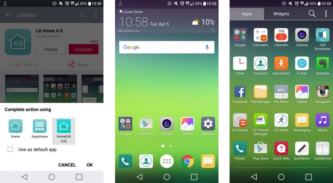 How To Restore G5 Apps Drawer