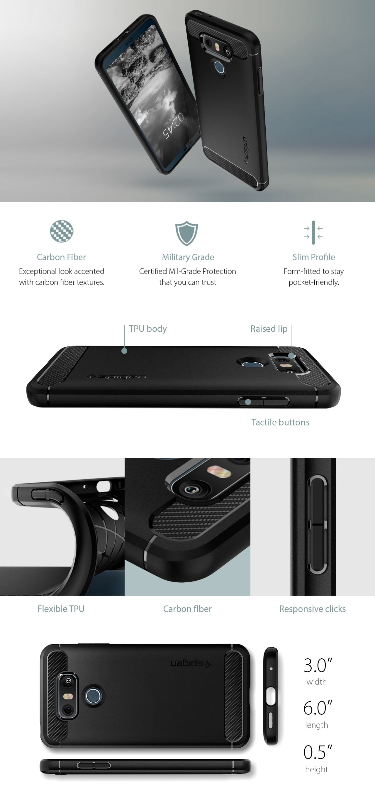 Spigen LG G6 Rugged Armor