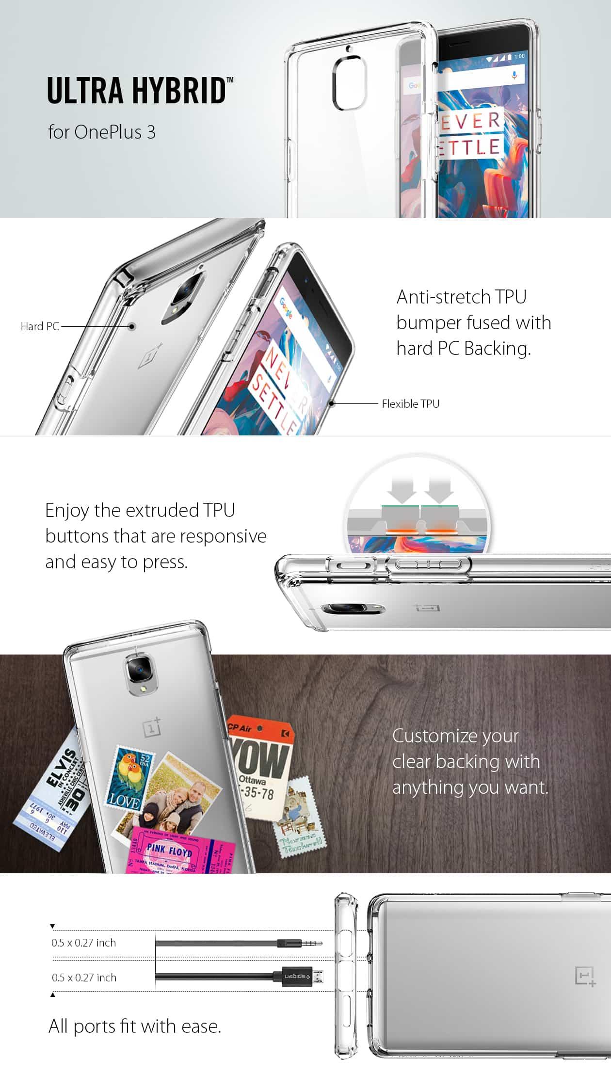 spigen OnePlus 3 Case Ultra Hybrid