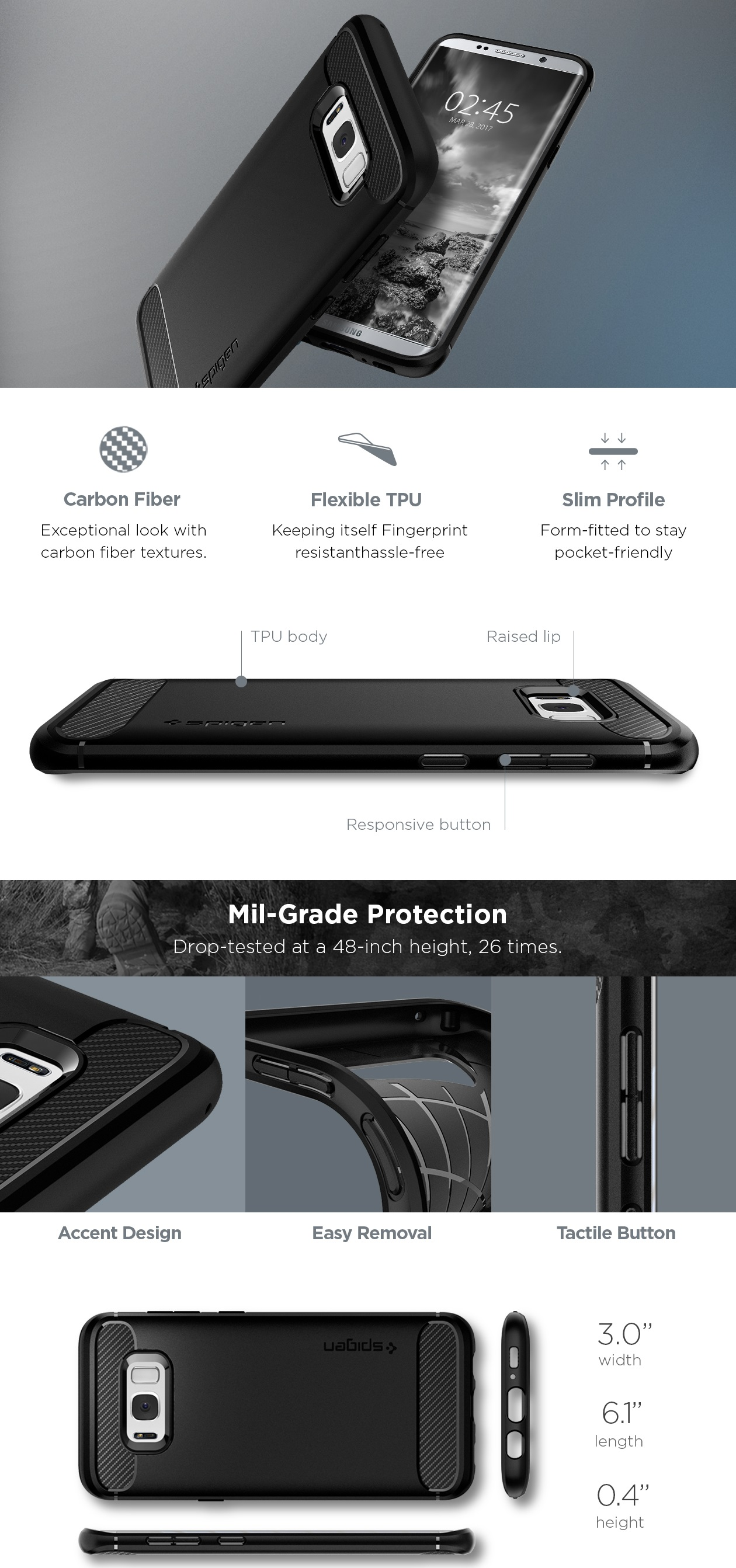 Spigen Galaxy S8 Plus Rugged Armor