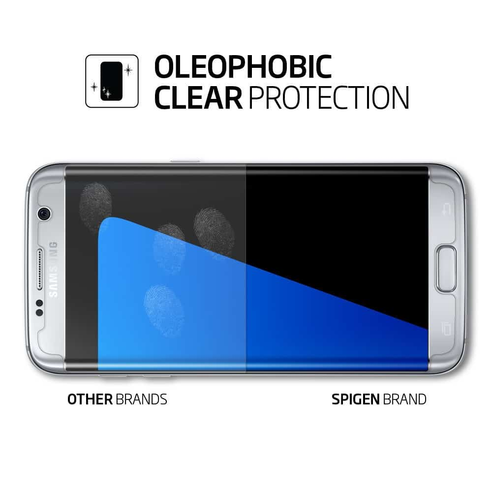 Spigen S7 Edge Screen Protector Crystal