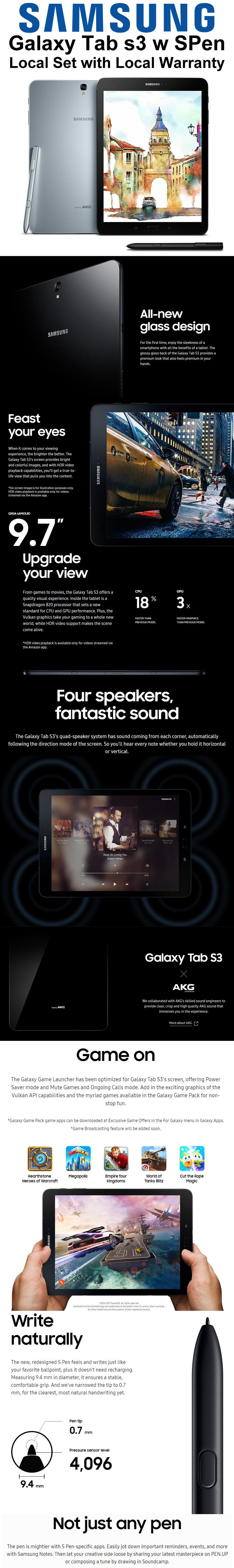 Samsung Galaxy Tab S3 9.7 Price