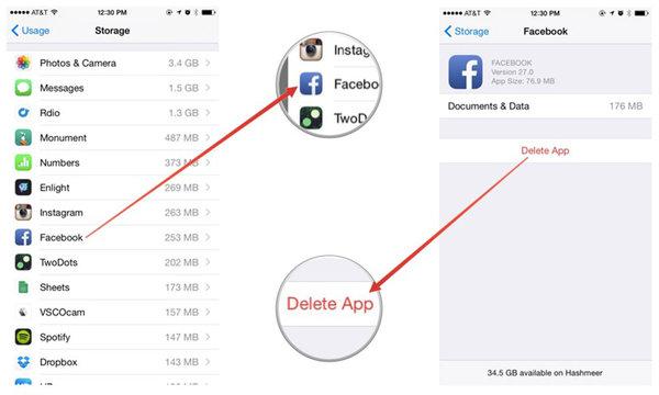 iPhone 6S Delete Apps