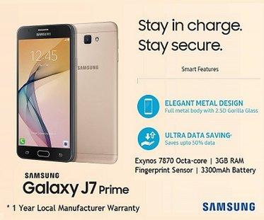 Samsung Galaxy J7 Price in Singapore